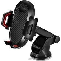 Telefoonhouder Auto - Telefoonhouder auto Zuignap - Verstelbaar met telescopische arm - Zwart