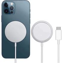 15W Draadloze Magsafe Oplader voor Apple met USB-C Kabel 1 Meter - Wit