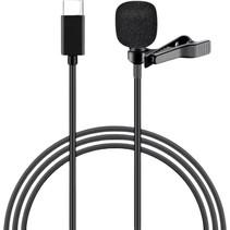Professionele microfoon voor iPhone en iPad - Lavalier Clip On systeem - USB Type-C aanlsuiting - 1.5 meter kabel