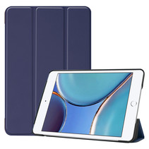 iPad Mini 6 2021 (8.3 inch) Hoes - Tri-Fold Book Case - Donker Blauw