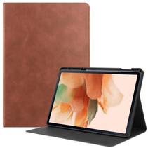 Samsung Galaxy Tab S7 FE Hoes - PU Leer Folio Book Case - Bruin