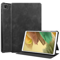 Samsung Galaxy Tab A7 Lite Hoes - PU Leer Folio Book Case - Zwart