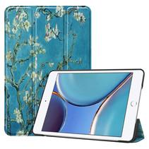 iPad Mini 6 2021 (8.3 inch) Hoes - Tri-Fold Book Case - Witte Bloesem