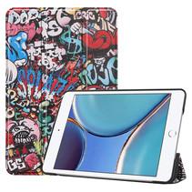 iPad Mini 6 2021 (8.3 inch) Hoes - Tri-Fold Book Case - Graffiti