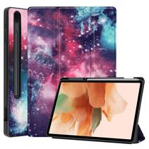 Samsung Galaxy Tab S7 FE Hoes - 12.4 inch - Tri-Fold Book Case - Met Pencil Houder - Galaxy