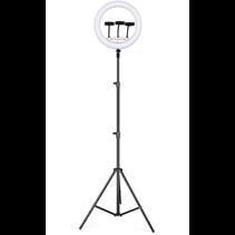 Ringlamp met Statief (Verstelbaar tot 200cm) - Ringlight 14 inch / 36 cm met Telefoonstatief - Gaming  pc Setup Lamp - Tiktok Lamp - Dimbaar
