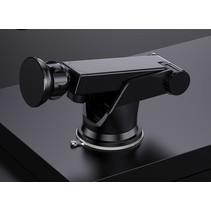 Telefoonhouder Auto Dashboard - Telefoonhouder auto Zuignap - Telefoonhouders Auto Verstelbaar met telescopische arm - Zwart
