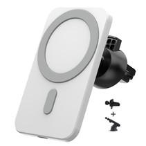 MagSafe Autohouder - Telefoonhouder Auto Ventilatie met telescopische Arm - Autohouder telefoon - Geschikt voor iPhone 12 modellen - Wit