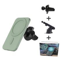 MagSafe Autohouder - Telefoonhouder Auto Ventilatie met telescopische Arm - Autohouder telefoon - Geschikt voor iPhone 12 modellen - Groen