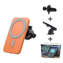 MagSafe Autohouder - Telefoonhouder Auto Ventilatie met telescopische Arm - Autohouder telefoon - Geschikt voor iPhone 12 modellen - Oranje