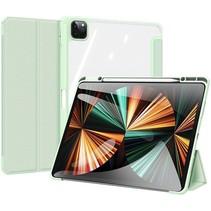 Apple iPad Pro 2021 (12.9 Inch)  Hoes - Dux Ducis Toby Tri-Fold Book Case - Groen