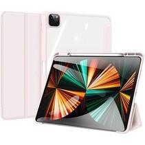 Apple iPad Pro 2021 (12.9 Inch)  Hoes - Dux Ducis Toby Tri-Fold Book Case - Roze