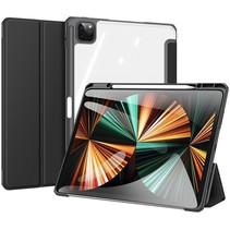 Apple iPad Pro 2021 (12.9 Inch)  Hoes - Dux Ducis Toby Tri-Fold Book Case - Zwart
