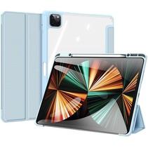 Apple iPad Pro 2021 (12.9 Inch)  Hoes - Dux Ducis Toby Tri-Fold Book Case - Blauw