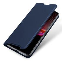 Sony Xperia 1 III Hoesje - Dux Ducis Skin Pro Book Case - Donker Blauw