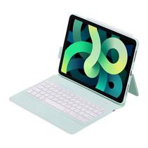 iPad 10.2 2019 / 2020 / 2021 case - QWERTY - Bluetooth Toetsenbord hoes - Met auto Wake/Sleep functie - Groen