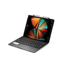 iPad Pro Toetsenbord Hoes - 12.9 inch (2021, 2020, 2018) - Bluetooth Toetsenbord - Draaibaar, Touchpad & Verlichting - QWERTY -  Zwart