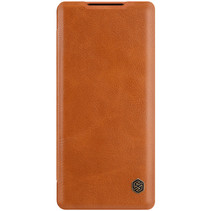Xiaomi Mi 11 Hoesje - Qin Leather Case - Flip Cover - Bruin