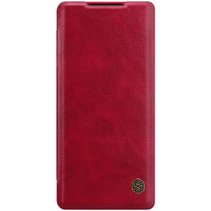 OnePlus 9 Hoesje - Qin Leather Case - Flip Cover - Rood