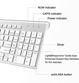 Case2go Draadloos toetsenbord en Muis - QWERTY keyboard - 2.4 GHZ - Voor PC, Laptop, Tablet - Compatible met Windows/Android - Wit