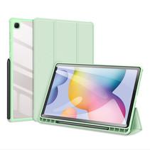 Samsung Galaxy Tab S6 Lite Hoes - Dux Ducis Toby Tri-Fold Book Case - Groen