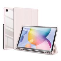 Samsung Galaxy Tab S6 Lite Hoes - Dux Ducis Toby Tri-Fold Book Case - Roze