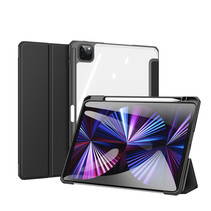 Apple iPad Pro 2021 (11 inch) Hoes - Dux Ducis Toby Tri-Fold Book Case - Zwart