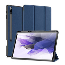 Samsung Galaxy Tab S7 FE (2021)  Hoes - Dux Ducis Domo Book Case - Blauw
