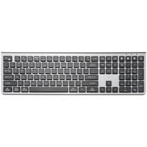 Draadloos Bluetooth toetsenbord - QWERTY keyboard - Voor PC, Laptop, Tablet - Compatibel met Windows/Android en Apple - Zilver