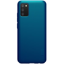 Nillkin - Samsung Galaxy A02S Hoesje - Super Frosted Shield - Back Cover - Blauw