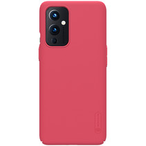 Nillkin - OnePlus 9 Hoesje - Super Frosted Shield - Back Cover - Rood