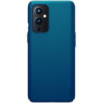 Nillkin - OnePlus 9 Hoesje - Super Frosted Shield - Back Cover - Blauw