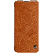 OnePlus 9 Hoesje - Qin Leather Case - Flip Cover - Bruin