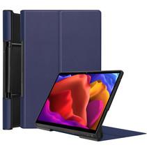 Lenovo Yoga Tab 13 (2021) Hoes - Tri-Fold Book Case - Donker Blauw