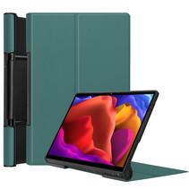 Lenovo Yoga Tab 13 (2021) Hoes - Tri-Fold Book Case - Donker Groen