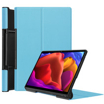 Lenovo Yoga Tab 13 (2021) Hoes - Tri-Fold Book Case - Licht Blauw