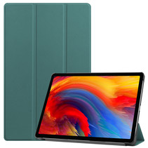 Lenovo Tab P11 Plus (11 inch) Hoes - Tri-Fold Book Case - Donker Groen
