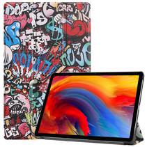 Lenovo Tab P11 Plus (11 inch) Hoes - Tri-Fold Book Case - Graffiti