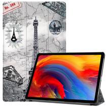 Lenovo Tab P11 Plus (11 inch) Hoes - Tri-Fold Book Case - Eiffeltoren
