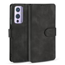 CaseMe - OnePlus 9 Hoesje - Met Magnetische Sluiting - Ming Serie - Leren Book Case - Zwart