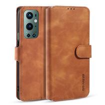 CaseMe - OnePlus 9 Pro Hoesje - Met Magnetische Sluiting - Ming Serie - Leren Book Case - Licht Bruin