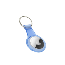 Case2go - Apple Airtag Hoesje - Airtag-sleutelhanger - Airtag case - Silicone - Transparant Blauw