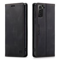AutSpace - Samsung Galaxy S21 FE Hoesje - Wallet Book Case - Magneetsluiting - met RFID bescherming - Zwart