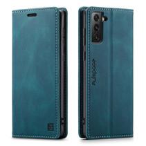 AutSpace - Samsung Galaxy S21 FE Hoesje - Wallet Book Case - Magneetsluiting - met RFID bescherming - Blauw