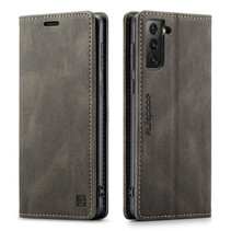 AutSpace - Samsung Galaxy S21 FE Hoesje - Wallet Book Case - Magneetsluiting - met RFID bescherming - Bruin