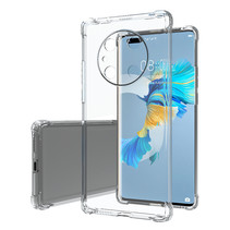 Huawei Mate 40 Pro Hoesje - Clear Soft Case - Siliconen Back Cover - Shock Proof TPU - Transparant