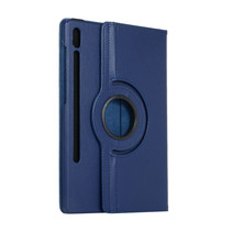 Samsung Galaxy Tab S7 Plus (2020) Hoes - Draaibare Book Case Cover - 12.4 Inch - Donker Blauw