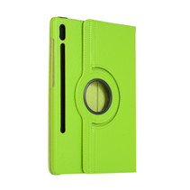 Samsung Galaxy Tab S7 Plus (2020) Hoes - Draaibare Book Case Cover - 12.4 Inch - Groen