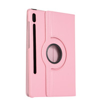 Samsung Galaxy Tab S7 Plus (2020) Hoes - Draaibare Book Case Cover - 12.4 Inch - Roze