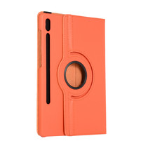 Samsung Galaxy Tab S7 Plus (2020) Hoes - Draaibare Book Case Cover - 12.4 Inch - Oranje